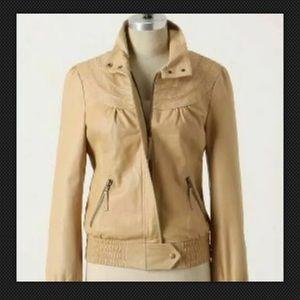 idra for Anthropologie Racer Leather Moto Jacket